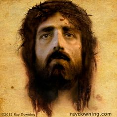 Jesus face. Nobody really knows what Jesus looked like, but this could give us some idea.
