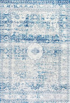 Bring the perfect vintage look to your décor with this 100 percent polypropylene,machine made Distressed Persian Rug. Available in circle, rectangle and runner shapes and in three shades of blue, this rug brings the old world charm to your interiors and will fit seamlessly below your furniture.