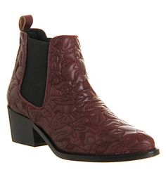 Office Cowboy Chelsea Boot Burgundy - Ankle Boots