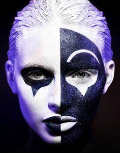 Simon-Songhurst-black-white-fantasy-makeup-beauty