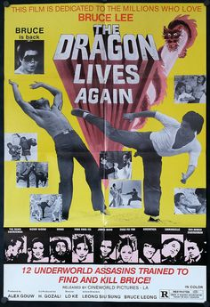 The Dragon Lives Again - Original Action Movie Poster - 1977 - Siu-Lung Leung Original movie poster from Dragon Lives Again, the 1977 Action movie starring Siu-Lung Leung, Ie Lung Shen & Ching Tang  Poster is in good shape & displays well. Black dots in the corners are magnets and do not show up on the actual poster!  My one-sheet posters generally measure 27 wide x 41 high, although some may be larger or smaller by an inch or two - if you need an exact measurement, let me know!  A...