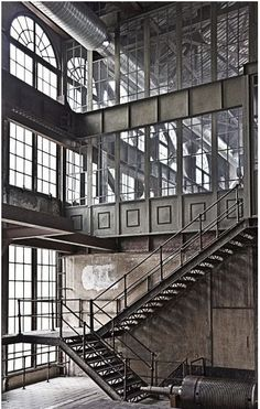 old factories turned into lofts.: