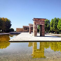 With over 2,200 years of history, the Temple of #Debod, which was a gift from Egypt in return for Spain's assistance during a major dam flooding, sits gracefully in open air atop a hill near Plaza España.