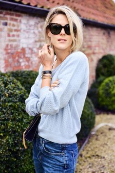 Baby blue knit#