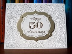Monochrome Fiftieth by angelfishcrafts - Cards and Paper Crafts at Splitcoaststampers