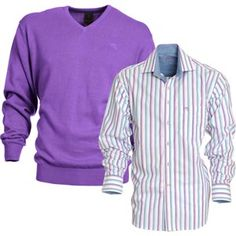 Plain knit blackwater matched perfectly with shirt Camon Knitwear, Trousers, Menswear, Knitting, Casual, Sweaters, Jackets, Shirts, Outfits
