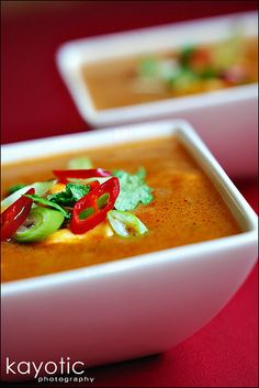 Ghanaian Peanut Soup: love this soup, and I often have all of the ingredients in my pantry!  If you don't have sieved tomatoes handy, add a dollop of tomato paste or even a squirt of ketchup, but don't leave the tomato out!  It makes the flavor of the whole soup.