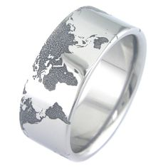 The World by boonerings on Etsy.  Titanium ring