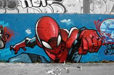 Daily Graffiti: Amazingly spectacular Spider-Man piece spotted by Merlyn_One.  Check out the DAILY GRAFFITI ARCHIVES for more geektastic street art!