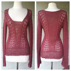 VINTAGE 70s hand crochet knit BOHO sweater shirt. $68.00, via Etsy.