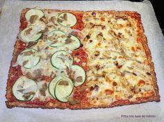 Cocinax2. Las recetas de Laurita.: Pizza con base de coliflor Vegetable Pizza, Vegetarian Recipes, Base, Vegetables, Cauliflower Pizza, Pizza Recipes, Food, Vegans, Diets