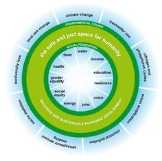 The 'doughnut' - A safe and just space for humanity within planetary and social boundaries by Oxfam International Human Growth And Development, Environmental Degradation, Environmental Justice, Environmental Design, Environmental Issues, Economic Systems, Economic Development, University College London, Industrial Revolution