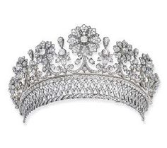 An antique diamond tiara by Kochert. Provenance: The Palffy family is of Hungarian nobility dating back to the 14th century. One of the richest and most influential families in the region from the 17th to 19th centuries, Karl Hieronymus Graf Palffy von Erdöd was elevated to the status of an Austrian Prince in 1807. The family tiara was made circa 1870 by the hand of Köchert, Vienna and is illustrated in their design book