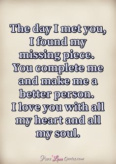 Immature love says, 'I love you because I need you.' Mature love says, 'I need you because I love you. Found You Quotes, Pure Love Quotes, Love My Wife Quotes, Good Man Quotes, Missing You Quotes For Him, Soulmate Love Quotes, Life Quotes Love, Dream Quotes, Romantic Love Quotes