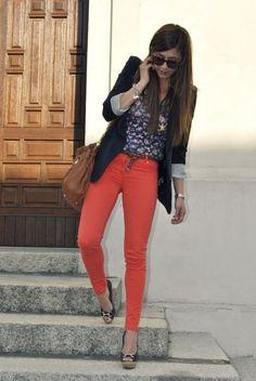 Another amazing orange jeans combo