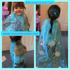 No sewing needed!  My daughter like every child right now loves the movie Frozen. Since she loves Elsa I decided to make her an Elsa inspired Cape to wear around the house.