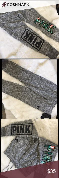 Pink Victoria's Secret joggers Size medium they are like new condition. Only slight piling on the bottom of cuffings PINK Victoria's Secret Pants Track Pants & Joggers
