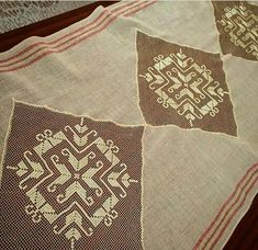 Needlework, Napkins, Sewing, Couture, Towels, Handarbeit, Embroidery, Needlepoint, Costura