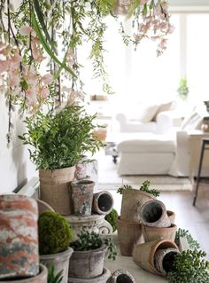 CottonStem.com potting table styling faux flowers