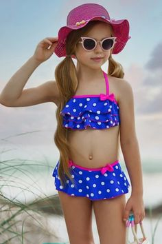 This two-piece swimsuit for girls is made with exceptional quality and soft fabric protects her sensitive skin. Perfect to wear in the warm season. Her summer will not be complete without it.   #swimset #poolparty #swimsuit #bathingsuit #collection #clothing #fashion #style #online #store #sale #offers Unique Swimsuits, Two Piece Swimsuits, Kids Swimwear, Cute Little Girls, Ruffle Skirt, Bikini Girls, Toddler Girl, Bikinis, Red Green