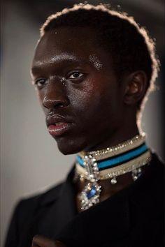Wilson Oryema - photo by Eva Al Desnudo- Backstage Grace Wales Bonner AW16