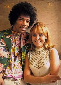 ♡♥Jimi Hendrix with Lulu - click on pic to see a full screen pic in a better looking black background♥♡