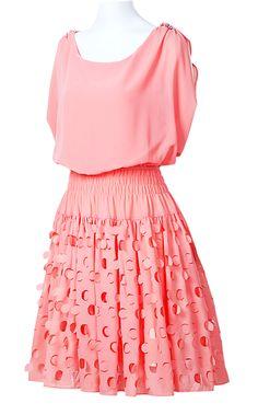 Red Short Sleeve Bandeau Hollow Polka Dot Dress
