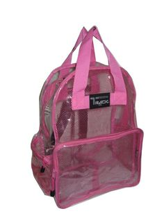 CLEAR Backpack  PINK See Through Security  Plastic Sports School Travel PVC New #Triplegear #Backpack