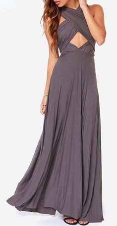 gray dress with changeable top