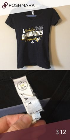 Penguins Stanley Cup 2016 V Neck Penguins 2016 V neck. Size large. Fits like an x-small. Might be a children's size, not complete sure. Very cute though! Tops Tees - Short Sleeve
