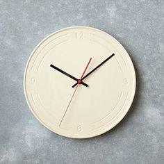 Industrial Ceramic Clock #westelm