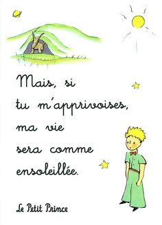 """the little prince. """"But if you tame me, we need one another."""" You will be for me unique in the world. I'll be for you unique in the world.""""the ultimate meaning of love Book Quotes, Words Quotes, Me Quotes, Sayings, French Words, French Quotes, The Words, Petit Prince Quotes, Meaning Of Love"""