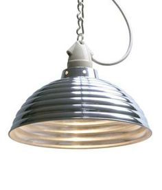 Corrugated spun pendant, Industrial pendants, Industrial lighting, Contemporary lighting, Holloways of Ludlow