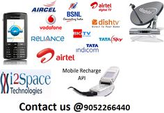 Mobile Recharge Api – i2space provides mobile recharge api through both internet and mobile. So stay connected our best services through Online Mobile Recharge facility. For more details please our website http://www.i2space.com/mobile-recharge.html or contact us at 9052266440 / 9704536531