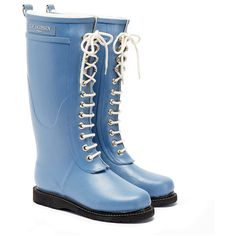 baaedc3185c See this and similar Ilse Jacobsen Hornbaek boots - Ilse Jacobsen women     blue tall wellington boots Crafted from resilient and eco-friendly natural  rubb.