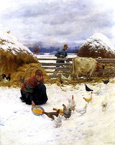 16 x 20 inches Art Prints on Canvas - Post-Impressionism Other - In the Barnyard - by Charles Courtney Curran Odsan Gallery http://www.amazon.com/dp/B00RRKEEVW/ref=cm_sw_r_pi_dp_4Yrlwb1BMACAC