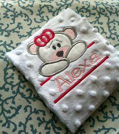 GIrl Bear Split Frame Applique Embroidery Design by PersonalLife