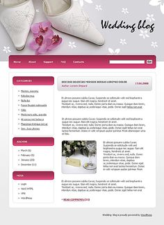 Wedding Blog WordPress Themes by Di