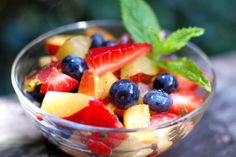 Stone Fruit Salad with Honey Lime Dressing