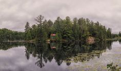 Old Hwy 127 Island reflection by Dave Bremner
