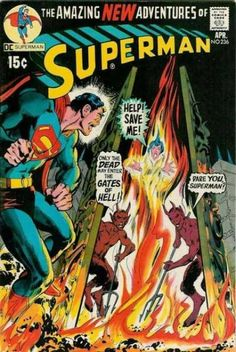 The cover to Superman #236, art by Neal Adams