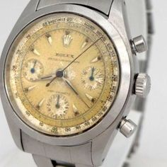 This Dial! - ROLEX OYSTER CHRONOGRAPH ANTIMAGNETIC PRE DAYTONA STAINLESS STEEL WATCH 36M 6234 #womw #vintagewatch #vintagefashion #vintagestyle #luxury #rolex #rolexwrist #rolexdaytona #vintagestyle #vintagerolex more at: http://www.womw.co