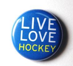 live love hockey button