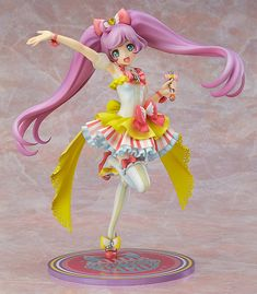 Laala Manaka (まなからぁら) from the anime series 'PriPara' wearing the 'Dream Twinkle Ribbon Cylaume Co-de' || 1/7th scale; Good Smile Company; Sculptor: Beehive (Akinori Urakawa); Sched Release Date: 2015/12