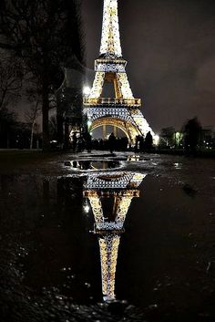 I have no real desire tp travel to France, except I'd love to see this. Paris at night.
