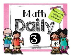 """These posters are great to use when explaining centers for Daily 3 math! They include MATH WITH SOMEONE, MATH BY MYSELF, and MATH IN WRITING posters which are completed generically for you, as well as a blank copy to complete with your class. *This product is an """"unofficial adaptation of the Daily 5 by Gail Boushey & Joan Moser."""