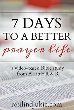 Take this 7 day video-based Bible study and learn how to have an effective, satisfying and powerful prayer life! It comes with a free 70-page prayer journal
