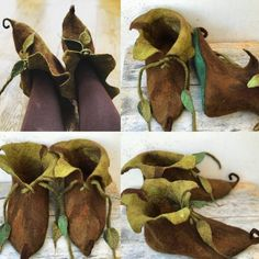 Your place to buy and sell all things handmade Fairy shoes Elf shoesCUSTOM made to order Elf slipper image 1 Fairy Clothes, Doll Clothes, Peter Pan Shoes, Cosplay Costumes, Fantasy Costumes, Fairy Costumes, Elf Slippers, Felted Slippers, Male Fairy