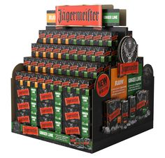 Jagermeister RTD pallet display / off location Drink Display, Pos Display, Display Design, Point Of Sale, Point Of Purchase, Guerilla Marketing, Pallet Display, Brewery Design, Supermarket Design