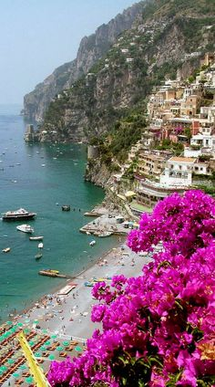 Beach at Positano, Italy (by Donna Corless)